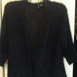 Black Open Cardigan Sweater-EUC